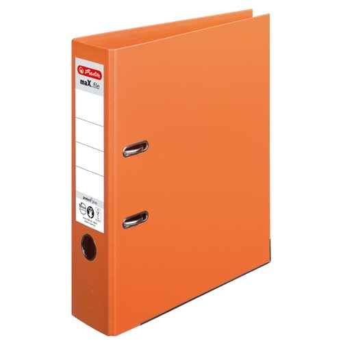 Ordner A4 max.file protect orange 8 cm von Herlitz