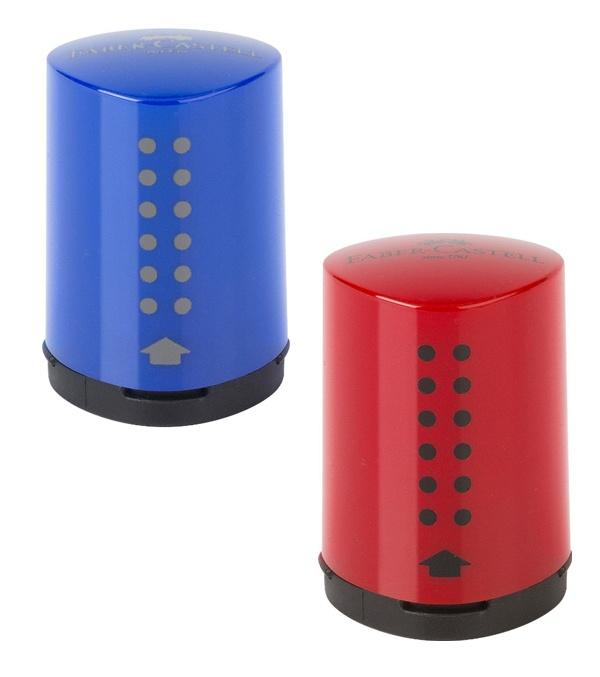 Faber Castell Einfachspitzdose Grip 2001 mini, blau/rot