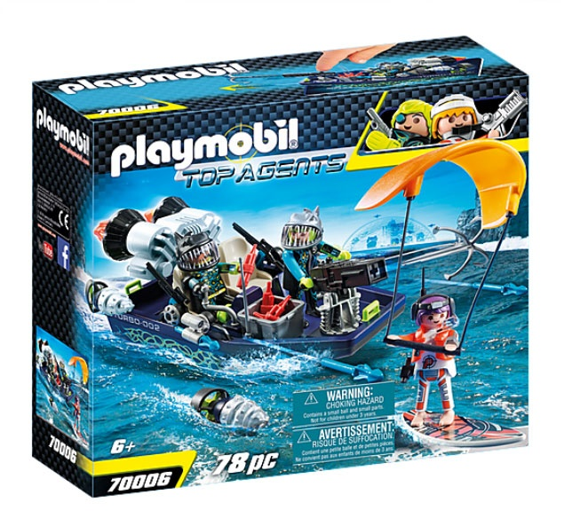 Playmobil 70006 Top Agents TEAM S.H.A.R.K. Harpoon Craf