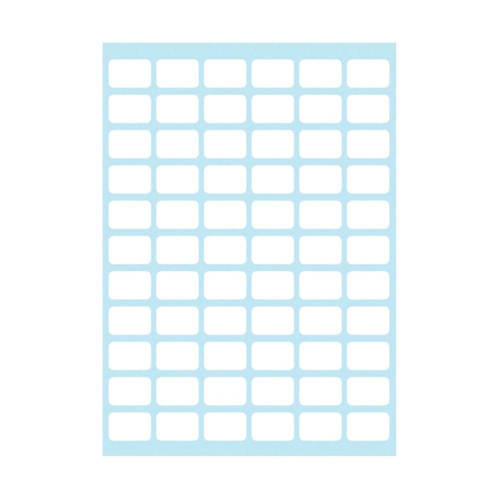 Büro-Etiketten weiß 8x12mm