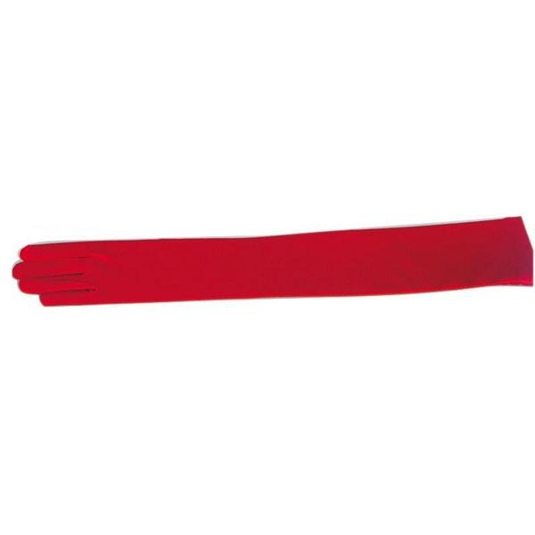 Kostüm-Zubehör Spandexhandschuhe rot 7, 47cm