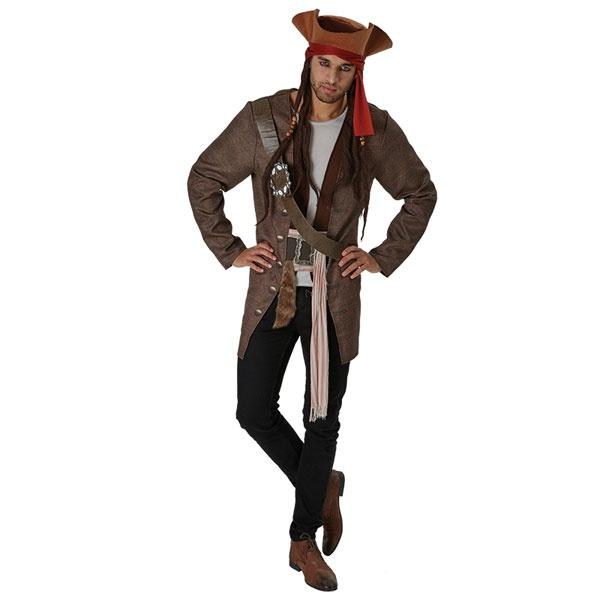 Kostüm Jack Sparrow Fluch der Karibik 5 Deluxe STD