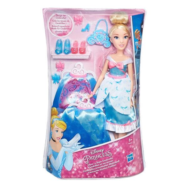 Disney Princess Puppe Cinderellas traumhafter Modespaß