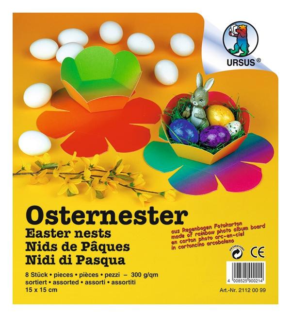 Osternester Regenbogen Fotokarton