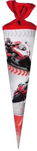 Schultüte 70 cm rund Motorradsport