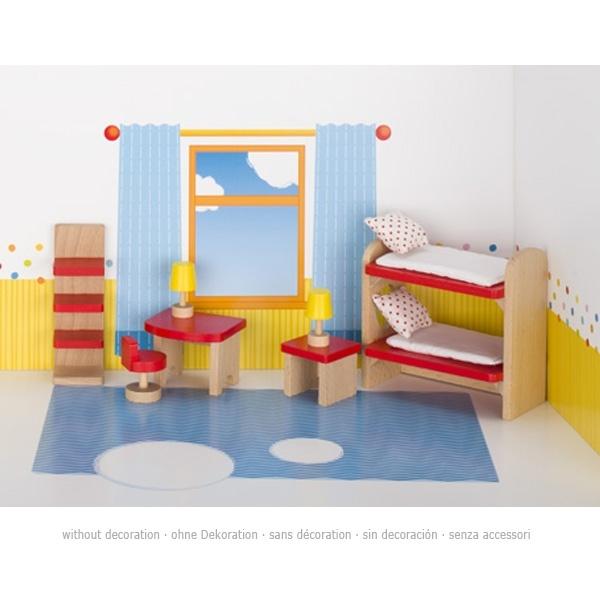 Puppenmöbel Kinderzimmer aus Holz