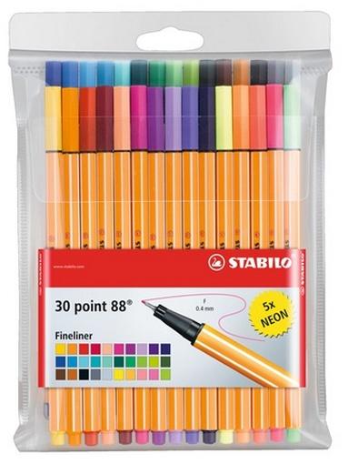 Stabilo Point 88 Fineliner 30 Stück Packung inkl. Neonfarben