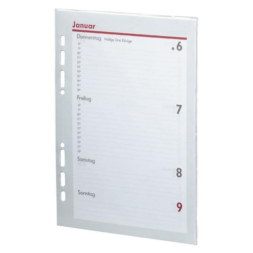 2020 Kalender Ersatzeinlage A5 Manager 1 Woche /2 Seiten