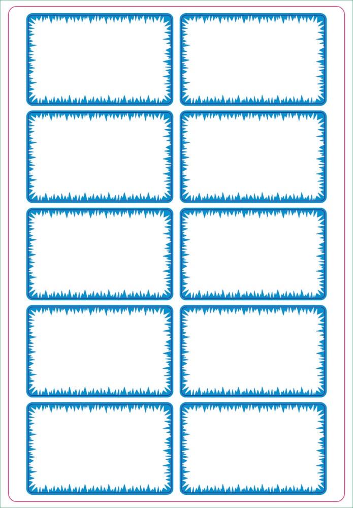 Etiketten TK weiß/blau