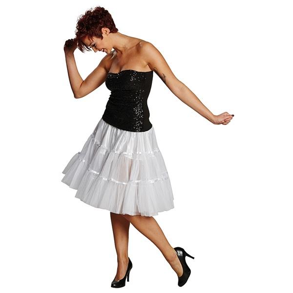 Kostüm-Zubehör Petticoat weiß