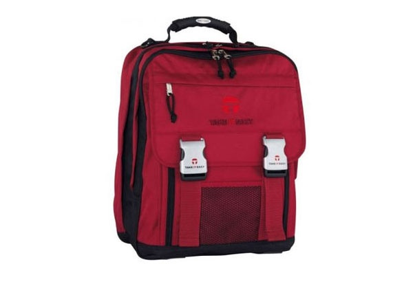 Take it Easy Basic bordeaux Schulrucksack London
