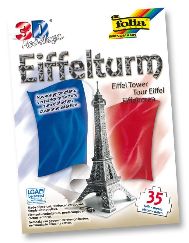 Bastelset 3D Modellogic Eiffelturm Paris 35 Teile
