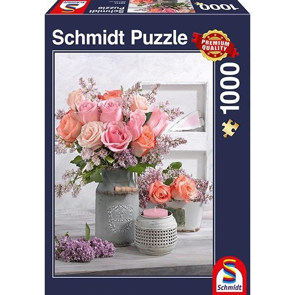 Schmidt Spiele Puzzle Puzzle Landhausstil und Rosen 1000