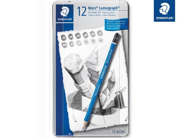 Staedtler Bleistift-Set Mars Lumograph 12 Stück Packung