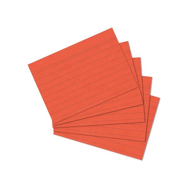 Karteikarten A7 orange liniert