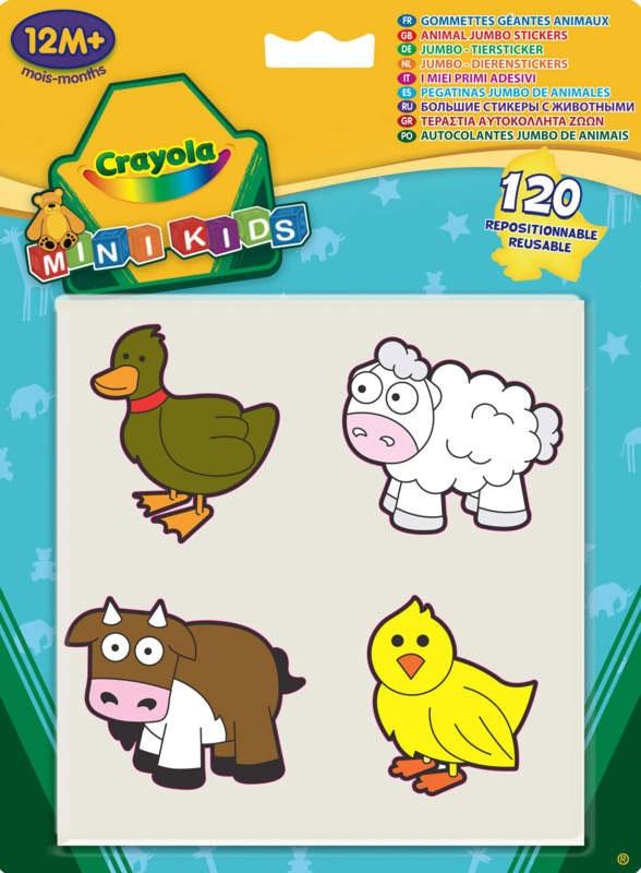 Crayola Mini Kids Jumbo Tiersticker