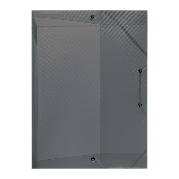 Herlitz Heftbox A4 4 cm Rückenbreite transluzent grau