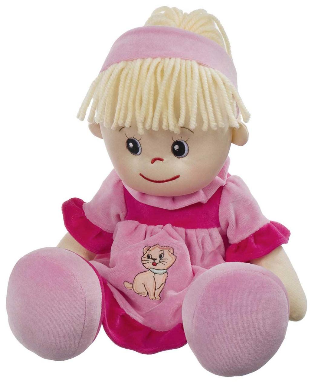 Poupetta Stoffpuppe Liesel  blondes Haar 50 cm