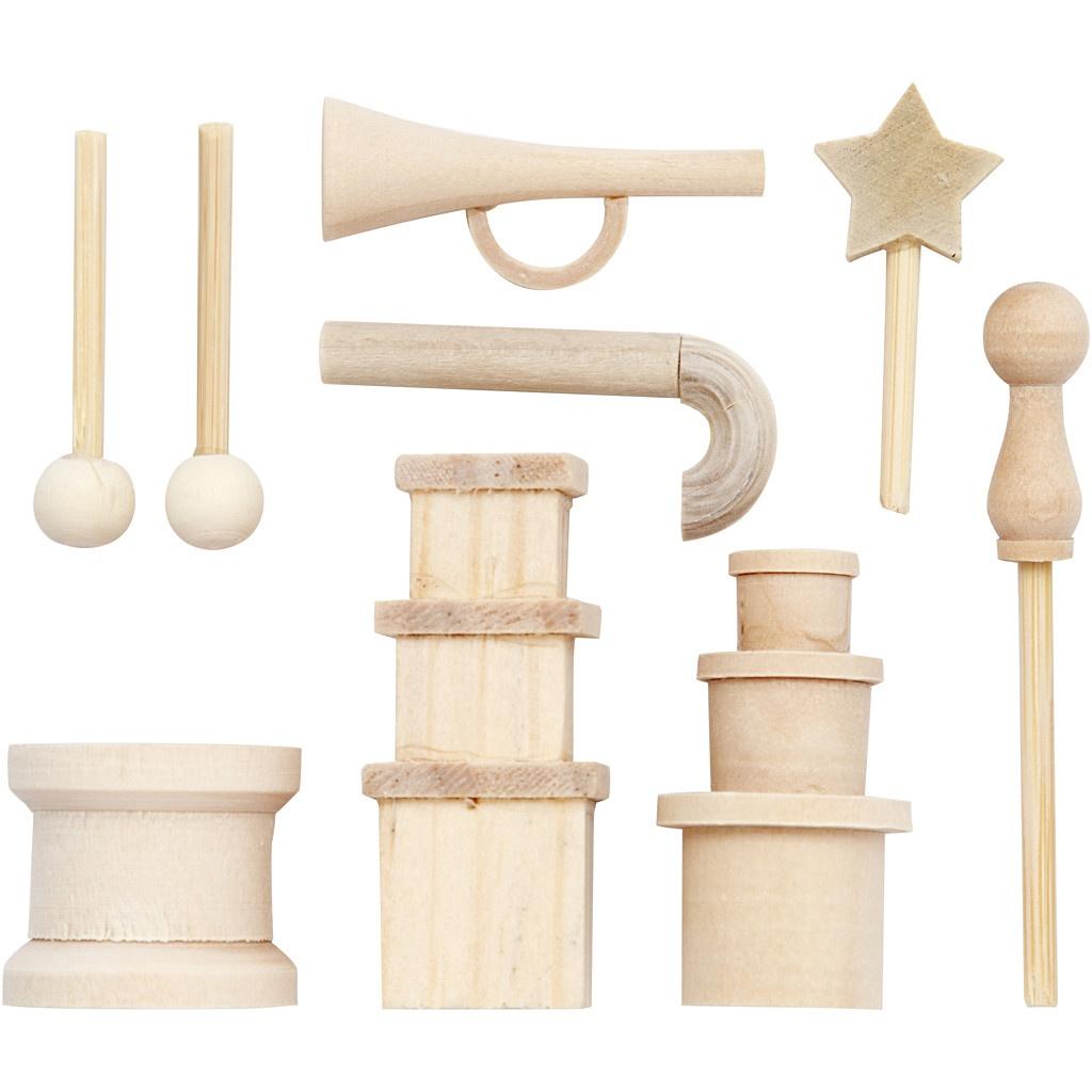 Bastelmaterialien Kleine Gegenstände aus Holz