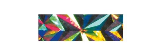 Holographische Folie 40 cm x 5 m Magic silber selbstklebend