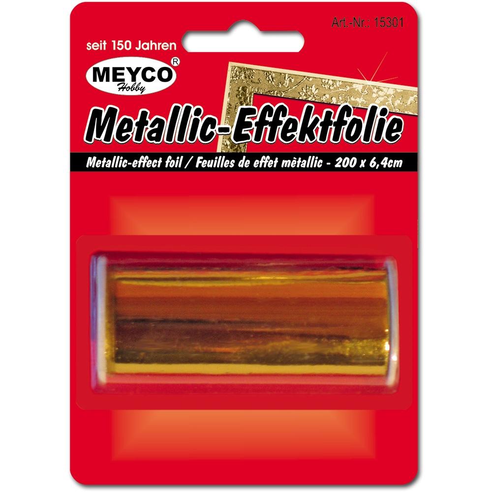 Metallic-Effektfolie 6,4 x 200 cm gold