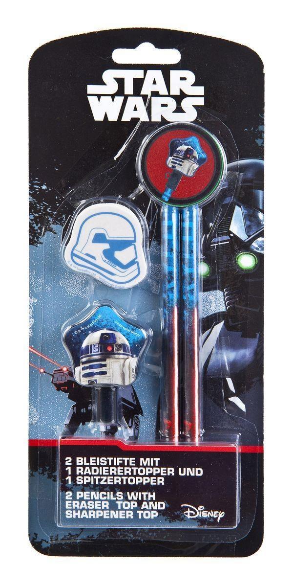 Star Wars Bleistifte mit Radierer 2Stck.
