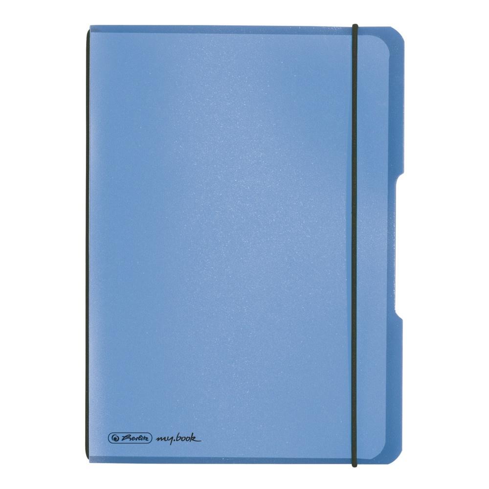 Herlitz Notizheft A5 PP flex kar Blau