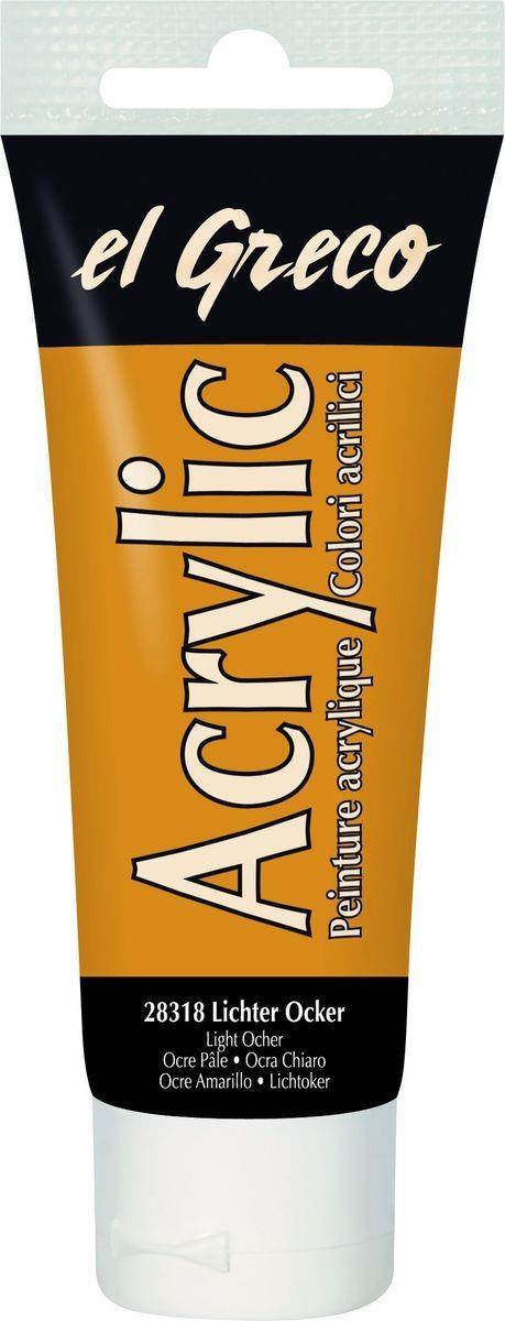 El greco Acrylic Acrylfarbe Lichter Ocker  75 ml