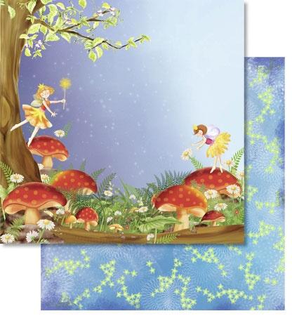 Scrapbook Paper Premium Wunderland mit Glitter Motiv 136