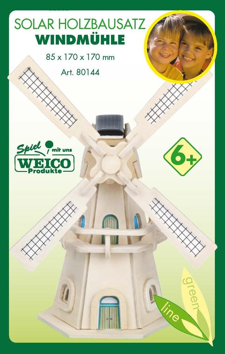 Weico Solarholzbausatz Windmühle