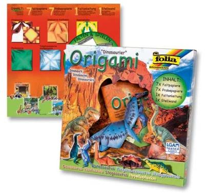 Origami Faltblätter Tierwelten Dinosaurier