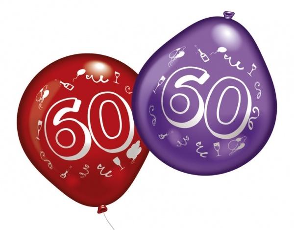 Luftballons mit Zahl 60 10 Stück
