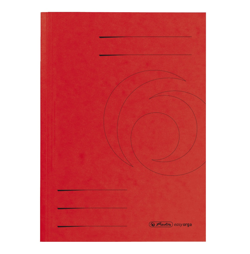 Aktendeckel A4 rot, Karton