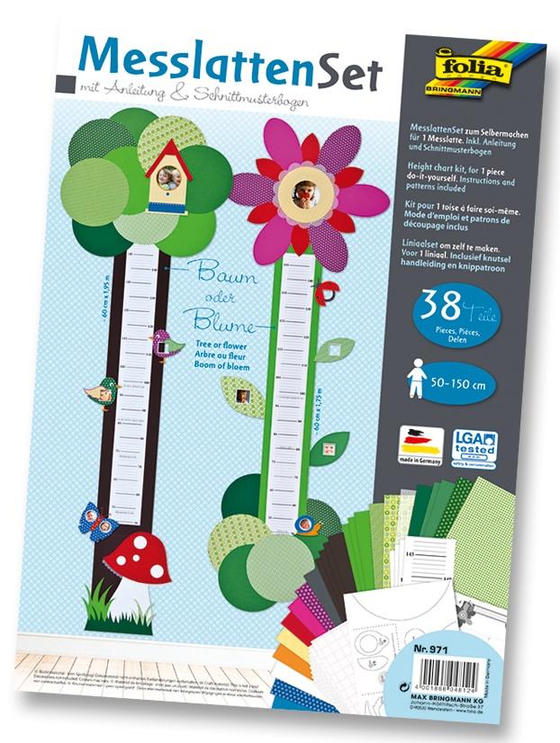 Folia Bastelset Messlatte zum Basteln Baum/Blume
