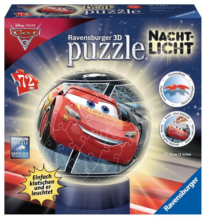Ravensburger 3D Puzzleball Nachtlicht Cars 3