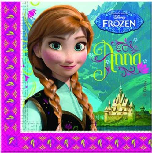Servietten Disney Frozen Die Eiskönigin 20 Stück
