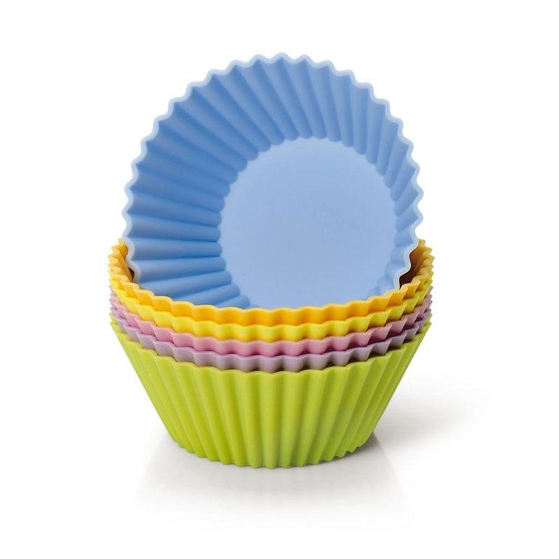 Kaiser Backform Inspiration Silikon Muffinform 6 Stk. farbig