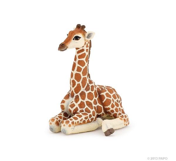 Papo 50150 liegendes Giraffenjunges