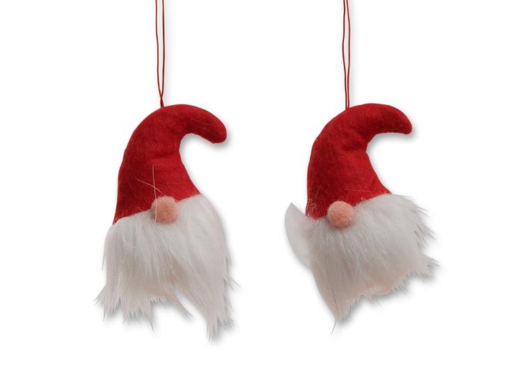 Weihnachtswichtel zum Hängen 2er-Set