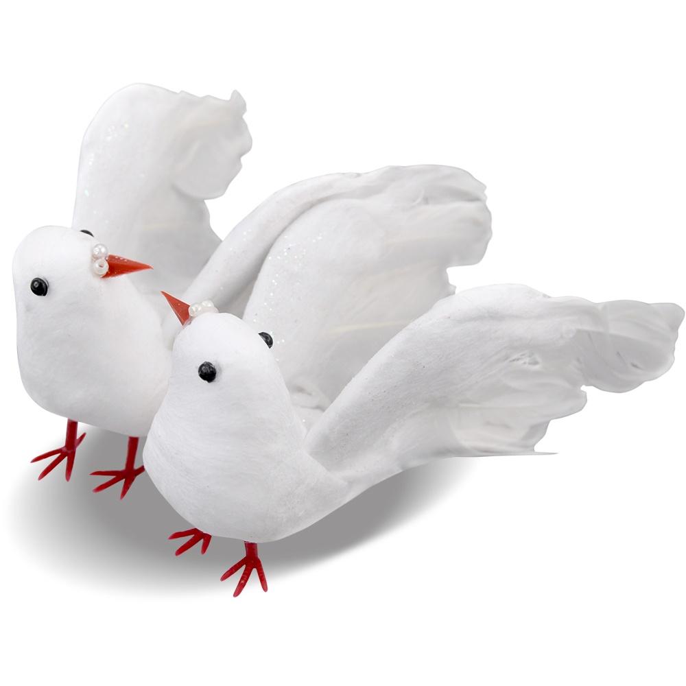 Taubenpärchen weiß 16 cm