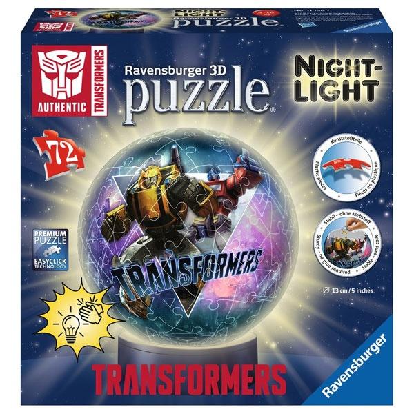 3D Puzzle-Ball Transformers Nachtlicht von Ravensburger