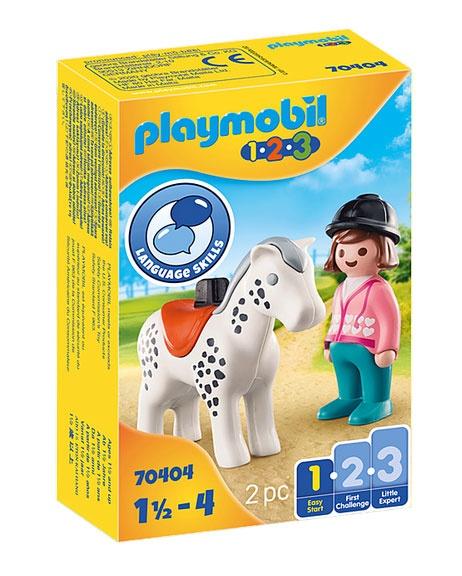 Playmobil 70404 1.2.3 Reiterin mit Pferd