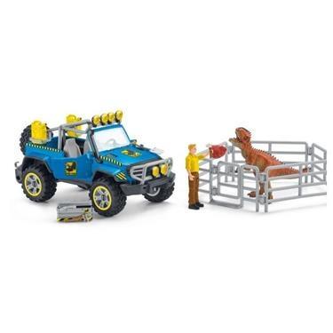 Schleich Dinosaurier Geländewagen mit Dino-Außenposten 41464