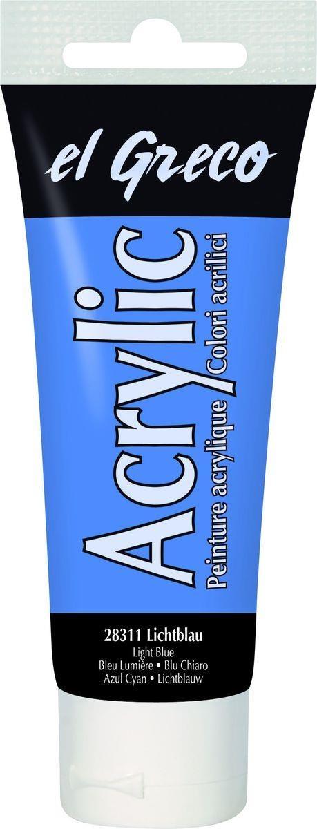 El greco Acrylic Acrylfarbe Lichtblau 75 ml