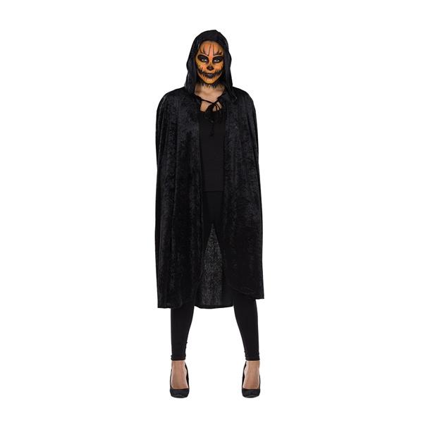 Kostüm Samtcape schwarz Gr. M