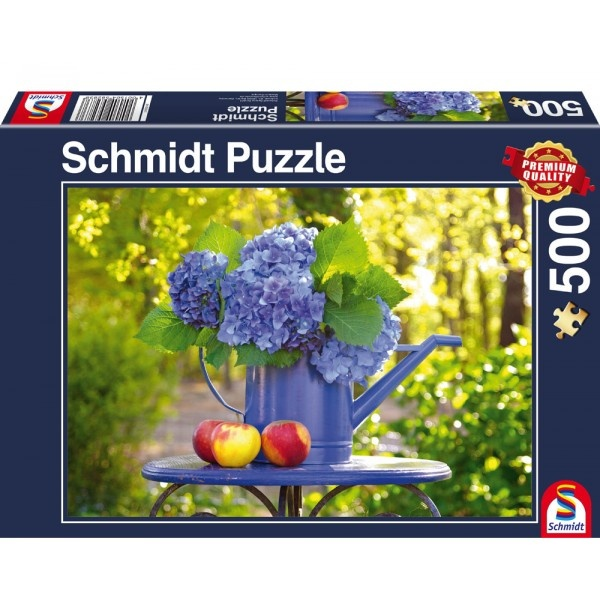 Schmidt Spiele Puzzle Giesskanne mit Hortensie 500 Teile