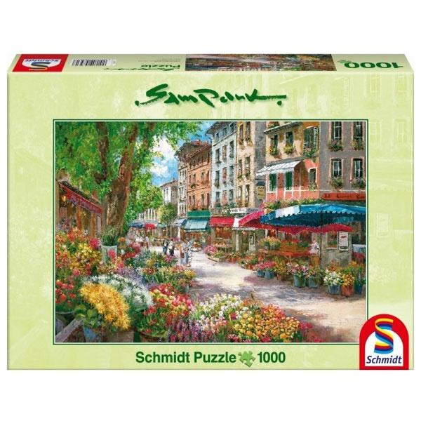 Puzzle Sam Park - Paris, Blumenmarkt 1000 Teile