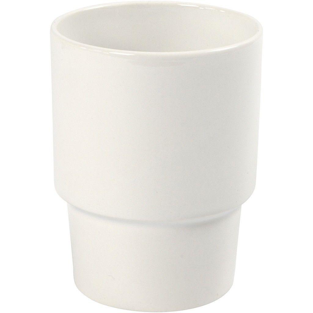 Becher Porzellan weiß 11 x 8,5 cm