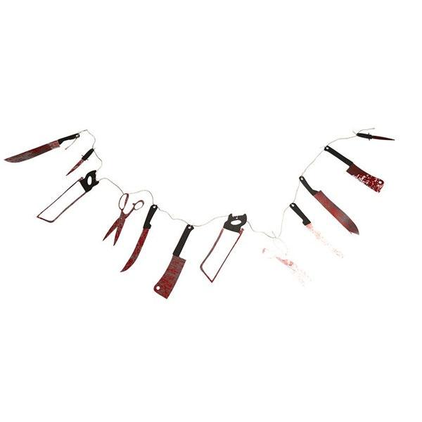 Kostüm-Zubehör Bloody Weapon Girlande