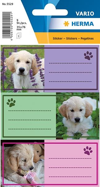 Herma Buch-Etiketten Hunde